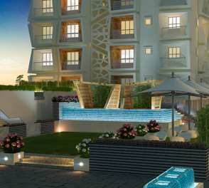 Lanscape garden in the 2/3 BHK flats for sale in Kolkata