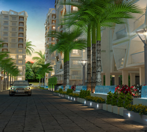 Walking area in 3 BHK flats for sale in Rajarhat