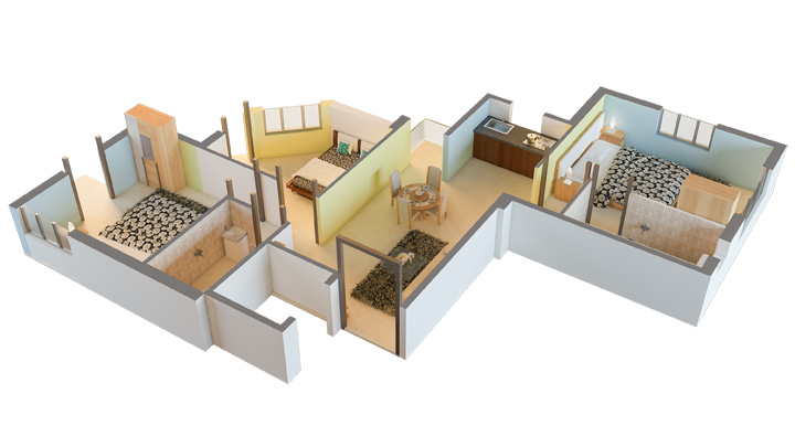3BHK Unit Plan